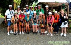 Canopy Los Suenos Wedding guest group