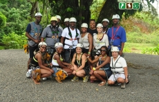 wedding guest group Canopy tour